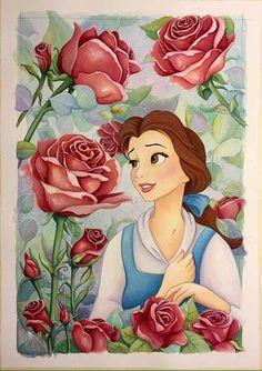 liana hee - Google Search Disney Pixar, Fera Disney, Arte Disney, Disney And Dreamworks, Disney Animation, Belle Disney, Disney Princess Art, Disney Love, Disney Princess Paintings