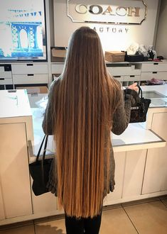 Gorgeous Sexy long hair. Permed Hairstyles, Pretty Hairstyles, Straight Hairstyles, Beautiful Long Hair, Gorgeous Hair, Silky Smooth Hair, Rapunzel Hair, Very Long Hair, Hair Photo