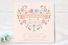 Twice the Joy by Chasity Smith at minted.com