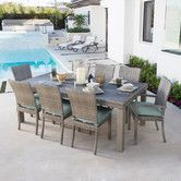 Found it at Wayfair - Cannes™  9 Piece Dining Set with Cushions