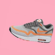 92223b7f8202b Men s Nike Air Max 1 Breathe Light Grey Orange Dark Grey trainers HOT SALE!  HOT PRICE!