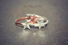 Stacking Star Rings  Set of 3 by TheFloweredFox on Etsy, $59.99