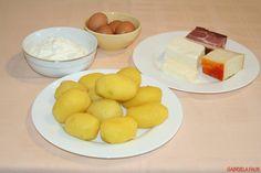 Cartofi gratinati la cuptor cu branza, cascaval, sunca, oua si smantana Healthy Lifestyle, Dairy, Cheese, Mariana, Bebe, Essen, Healthy Life, Healthy Living