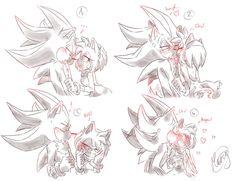 ShadAmy - A kiss on the cheek by AmyRoseDiamonds on DeviantArt Amy Rose, Shadow The Hedgehog, Sonic The Hedgehog, Shadamy Comics, Bad Comics, Shadow And Amy, Sonic Heroes, Sonic Fan Art, Sonic Boom