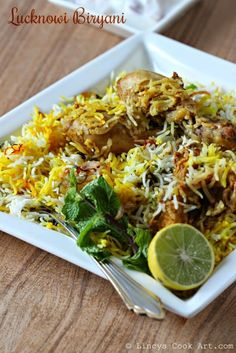 Lucknowi Chicken Biryani(How To Make Rice Pilaf) Veg Recipes, Curry Recipes, Indian Food Recipes, Asian Recipes, Chicken Recipes, Cooking Recipes, Indian Snacks, Kenyan Recipes, Indian Appetizers