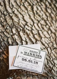 Rustic #black and #white wedding invitations (Photo by Michelle Warren)
