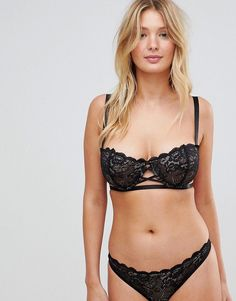 Wolf Whistle Black Lace Dd G Cup Bra Black G Cup Bras