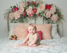 6 Month Baby Picture Ideas Discover Bellisima Bellisima Backdrop - Floral Headboard Backdrop from Intuition Backgrounds. 6 Month Baby Picture Ideas, Baby Girl Pictures, Baby Photos, Valentine Mini Session, Valentines, Photography Backdrops, Photography Tips, Photography Movies, Photography Lighting