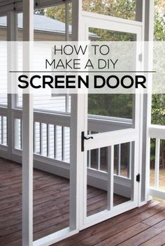Woodworking Ebanisteria How to Make a DIY Screen Door - Woodshop Mike.Woodworking Ebanisteria How to Make a DIY Screen Door - Woodshop Mike Screened In Porch Diy, Screened Porch Designs, Diy Screen Porch, Screen House, Front Porch, Screened Porch Decorating, Diy Porch, Custom Screen Doors, Wood Screen Door