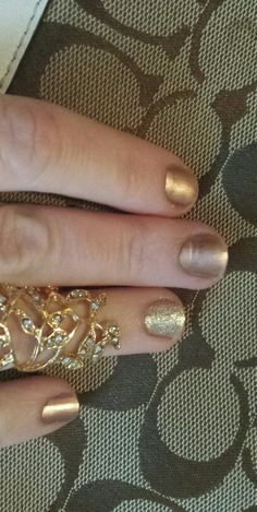 Penny talk by Essie with Hors D'Oeuvres on accent finger. Very simple but looks so classy!!