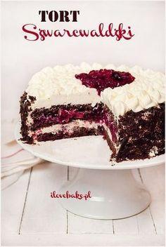 Black Forest Cake (Black Forest), the best recipe- Tort Szwarcwaldzki (czarny las), najlepszy – przepis Black Forest Black Forest Cake - Polish Desserts, Cookie Desserts, No Bake Desserts, Cupcakes, Cupcake Cakes, Sweet Recipes, Cake Recipes, Dessert Recipes, Different Cakes