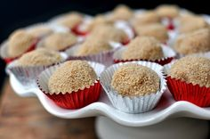 Coconut Truffles via Food Swoon from PushStart Kitchen. I just ate two of these at a birthday party. I am so in love.