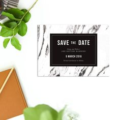 Items similar to White Marble Modern Wedding Invitation Vintage Black and White Monochrome Stationery Simple Font on Etsy Botanical Wedding Invitations, Modern Wedding Invitations, Vintage Floral, Vintage Black, Awards 2017, Modern Fonts, White Marble, A5, Save The Date