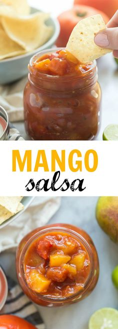 This is the BEST salsa I've ever had! We like it best on chicken tacos or straight out of the jar  Filled with mangoes, tomatoes and bell peppers it freezes perfectly so you can make a bunch and save for later.