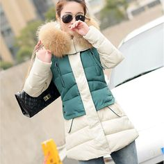 Winter Jacket Women 2016 Large Real Raccoon Fur Collar Parka Cotton Down Jackets And Coats For Womens Winter Warm Thick Outwear