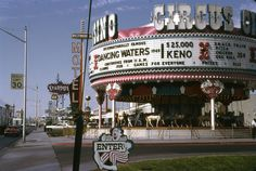 Another old photo of the Circus Circus carousel on the Las Vegas strip (ca. 1969).  #vintageLasVegas