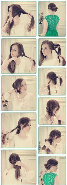DIY side updos for long hair