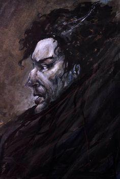 Shadow Man - Acrylic on paper