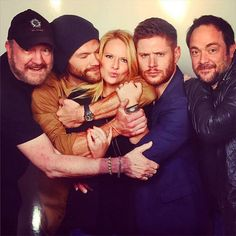 """Supernatural on Instagram: """"Jared, Jensen, Mark, and Jim with talented photographer Kate Evans (She was the photographer of Asylum16 Convention )"""