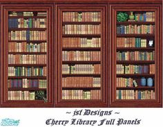 jsf Designs Cherry Library FL #Georgian #Regency #Victorian #cherry #paneling #library #TS2 #thesims2 #customcontent #cc
