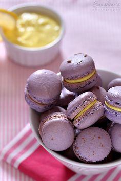 Lavender lemon macarons by kupenska.deviantart.com on @deviantART