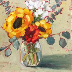 "Daily Paintworks - ""Big Sunny"" - Original Fine Art for Sale - © Martha Lever"