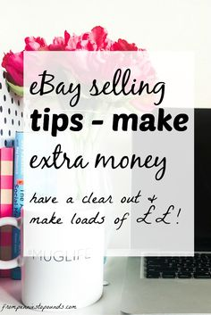 Tips for selling on eBay. It's simple and can make you lots of money! Get rid of your junk and make some extra cash. http://www.frompenniestopounds.com/selling-on-ebay-making-money/