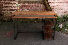 Salvaged wood desk. Recycled Brooklyn.