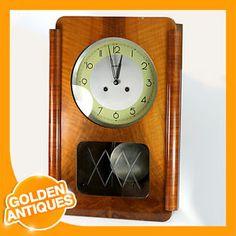 wood clock | Metron Wooden Soviet Russian CCCP USSR Wall Chimes 52cm Clock (Wind up ...