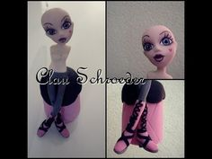 1° parte Monster High Draculaura - Topo do bolo - Biscuit / Porcelana fria by Clau - YouTube