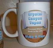 """Wake N Vape"" coffee mug from Crystal Canyon Vapes"