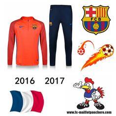Vente Survetement Foot FC Barcelone Orange seson 16 17 Replica - Home