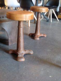Vintage naaimachine kruk