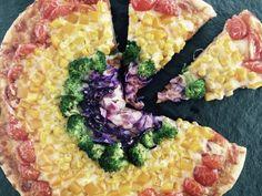 Rainbow Veggie Pizza