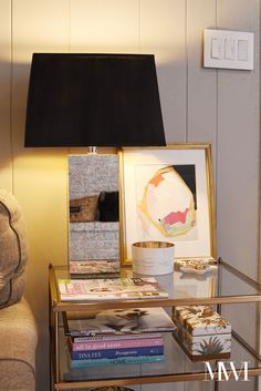 Superb DIY Black Painted Lampshade with Gold Liner