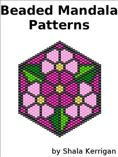 This collection of patterns are mandala like odd count peyote or brick stitch patterns. Flowers, sun, eyes and a triquetra or triangle knot. Instant PDF download. The patterns in the e-book are not realistically shaded like the examples. They are flat with grey graph lines for clarity.The third image shows how the patterns look in the e-book. The beaded example was made by my good friend, Jennifer Bragg. You will get a PDF with 9 patterns for mandalas that measure just about 1.5 inches...