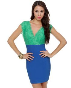 love! color block and it has a open back  http://www.lulus.com/products/ladies-luncheon-mint-and-blue-lace-dress/49987.html