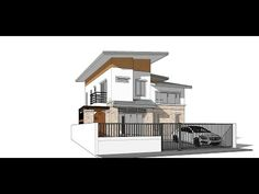 Tutorial Sketchup 2016 create modern house model - YouTube
