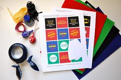 20 minute crafter-Superhero treats (with FREE print