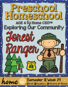 Forest Ranger Community Helper Preschool Unit for Preschool, PreK or Homeschool Preschool Social Studies, Preschool Themes, Community Helpers Preschool, Homeschool Preschool Curriculum, Camping Activities For Kids, Camping Theme, Play Stations, Park Rangers, March 21st