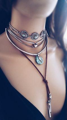 Choker Else Turquesa - Beth Souza Acessórios, bijoux boho, mix de chokers,mix de colares,bijuterias de luxo atacado,bijoux finas atacado,mermaid life, bijoux sereia,vida de sereia,colares atacado,look colares,Beth Souza acessórios