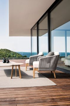 Mood club chair designed by Studio Segers for Tribù. Outdoor Dining Chairs, Outdoor Cushions, Outdoor Living, Outdoor Decor, Low Chair, Stool Chair, Garden Furniture, Outdoor Furniture Sets, Chair Design