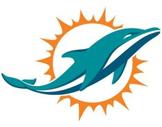 The actual new Miami Dolphins logo. I like it with the exception that the dolphin itself no longer has a discernible expression, making it more generic looking. That aspect never seemed to be the emphasis, at least to an outsider, most of the time when you saw the old one, it was too small to make out, so that's a wash. I like the more natural movement vs trick movement of the previous 2 logos.