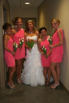 Coral and guava wedding...possible tux color besides black?  My ...