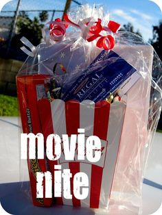 10 Last Minute Homemade Gifts - I made a movie night kit for my husband's birthday when we first started dating.
