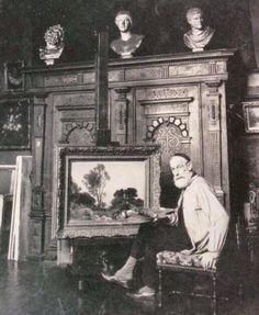 Henri Zuber in his studio, rue Vavin in Paris