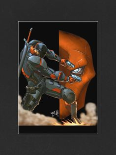 Deathstroke Mounted Print - Reckless Hero this would look ace in our games room!