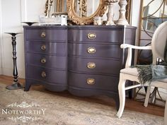 black washed buffet or dresser painted