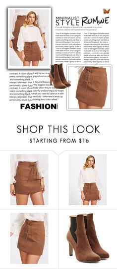 """""""Grommet Lace Up Dual Pocket Skirt"""" by dailybrilliant ❤ liked on Polyvore featuring Paul Andrew"""