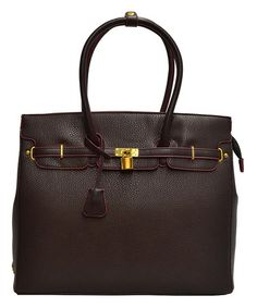 Another great find on #zulily! Brown Pebbled Business Tote #zulilyfinds
